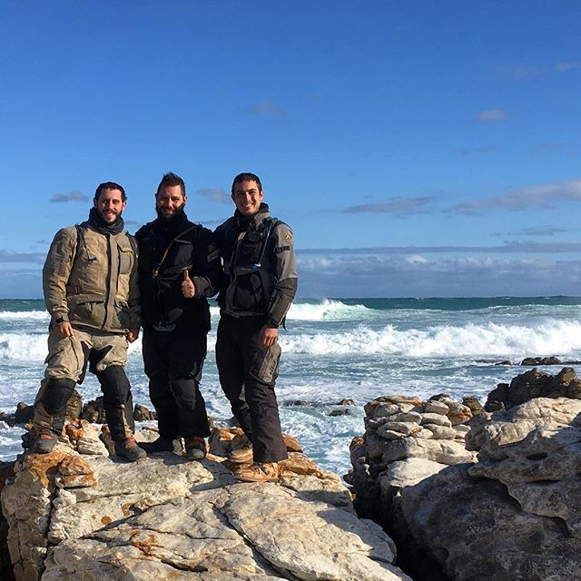 12,571 miles.  Today we arrived in Cape Agulhas, which is the southernmost tip of Africa.  #africa #southafrica #klr #klrsonly #adventure #travel #cousins #brothers #overland #motorcycle #moto #ocean #atlantic #indian