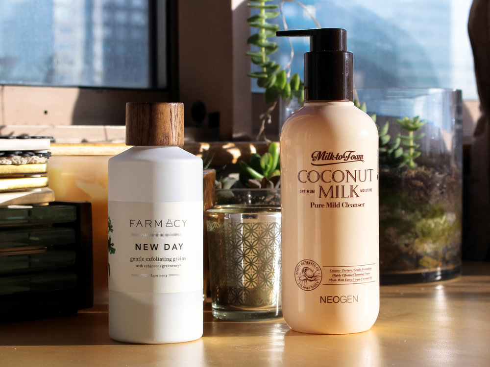 farmacy new day // neogen coconut milk cleanser