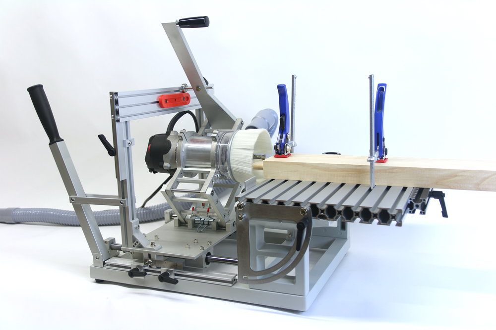 PantoRouter™ with dust collection set up for cutting tenons