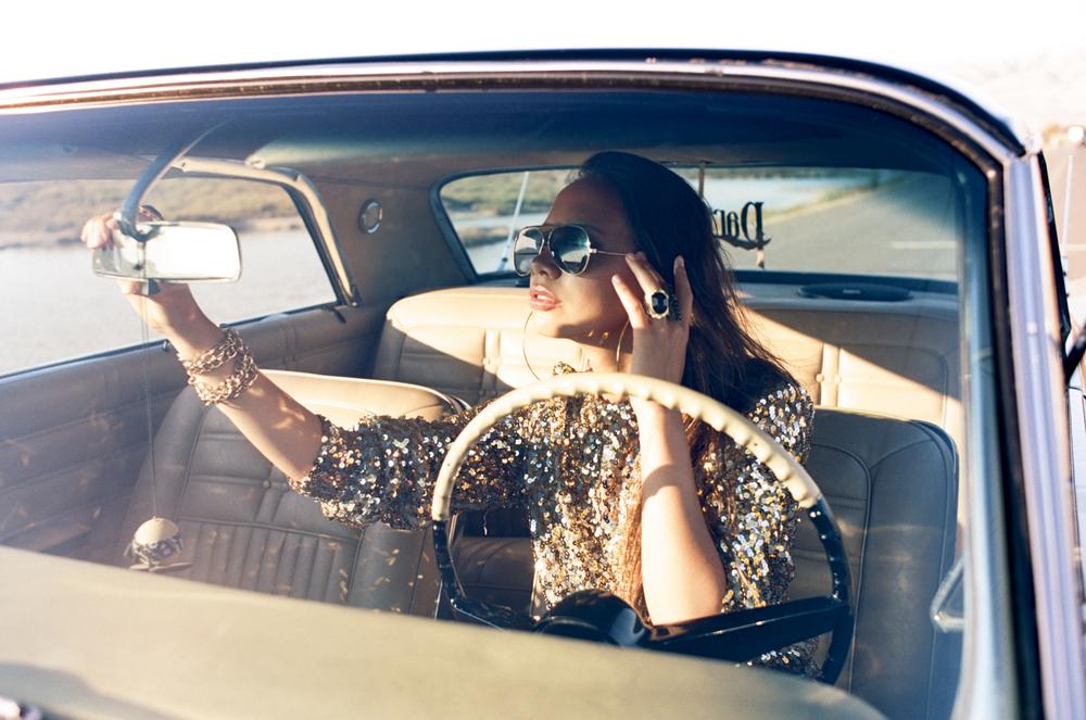 Model + Co-stylist  Shot by Tanja Lippert