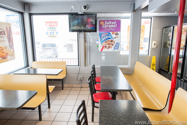 Dairy Queen Listowel Ice Cream Carpentry Millwork Custom Cabinetry JCB and Sons Building Durham Hanover Owen Sound Walkerton DQ Stainless Steel Counter Top Pepsi Machine Pop Cabinet Drawers Maple Fast Food Renovation Remodel