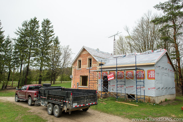 jcb and sons & durham hanover walkerton owen sound grey bruce renovation hvac plumbing electrical wireq a & d heating and cooling rough in framing carpentry construction contractor rebuild farmhouse remodel typar pex grace ice and water shield roofing