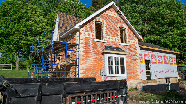 jcb and sons carpentry renovation remodel this old house farm hydro one wireq a & d heating and cooling gaf timberline shingles wiring martins insulation spray foam wiring plumbing security west grey highlands priceville hanover owen sound construction builder contractor MBS basement waterproofing blueskin dimple board