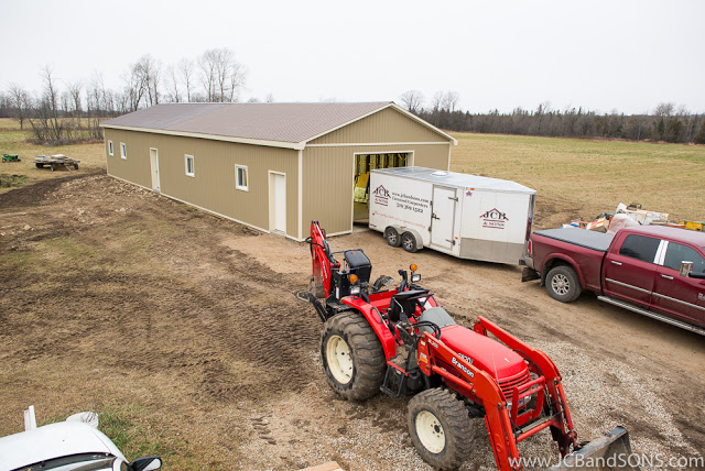 jcb and sons carpentry west grey hanover owen sound durham township of southgate carpentry pole shed steel siding trusscore pvc liner honey shed construction