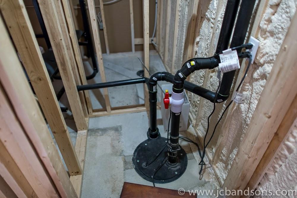 West Grey Durham Owen Sound Carpentry Carpenter JCB & SONS Basement Renovation Drywall Framing Spray Foam Bulk Head Pot Light HRV Duct Work Sewage Pump Utility Room