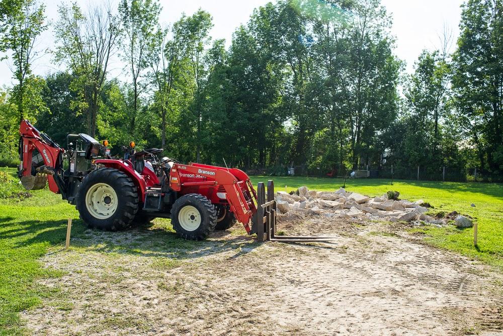 JCB & SONS Carpentry Renovation New Construction Demolition Branson Back Hoe Tractor Pallet Forks Loader Durham Landman Enterprises Owen Sound Hanover Chesley West Grey Ontario
