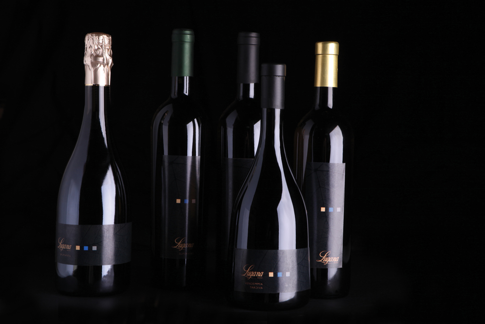 The five types of wines, as permitted by the Lugana DOC. Image courtesy of Lugana DOC