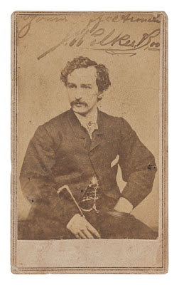 Photograph Signed And Inscribed Yours Affectionately J Wilkes Booth Carte De Visite Portrait By Silsbee Case Company Or Getchell