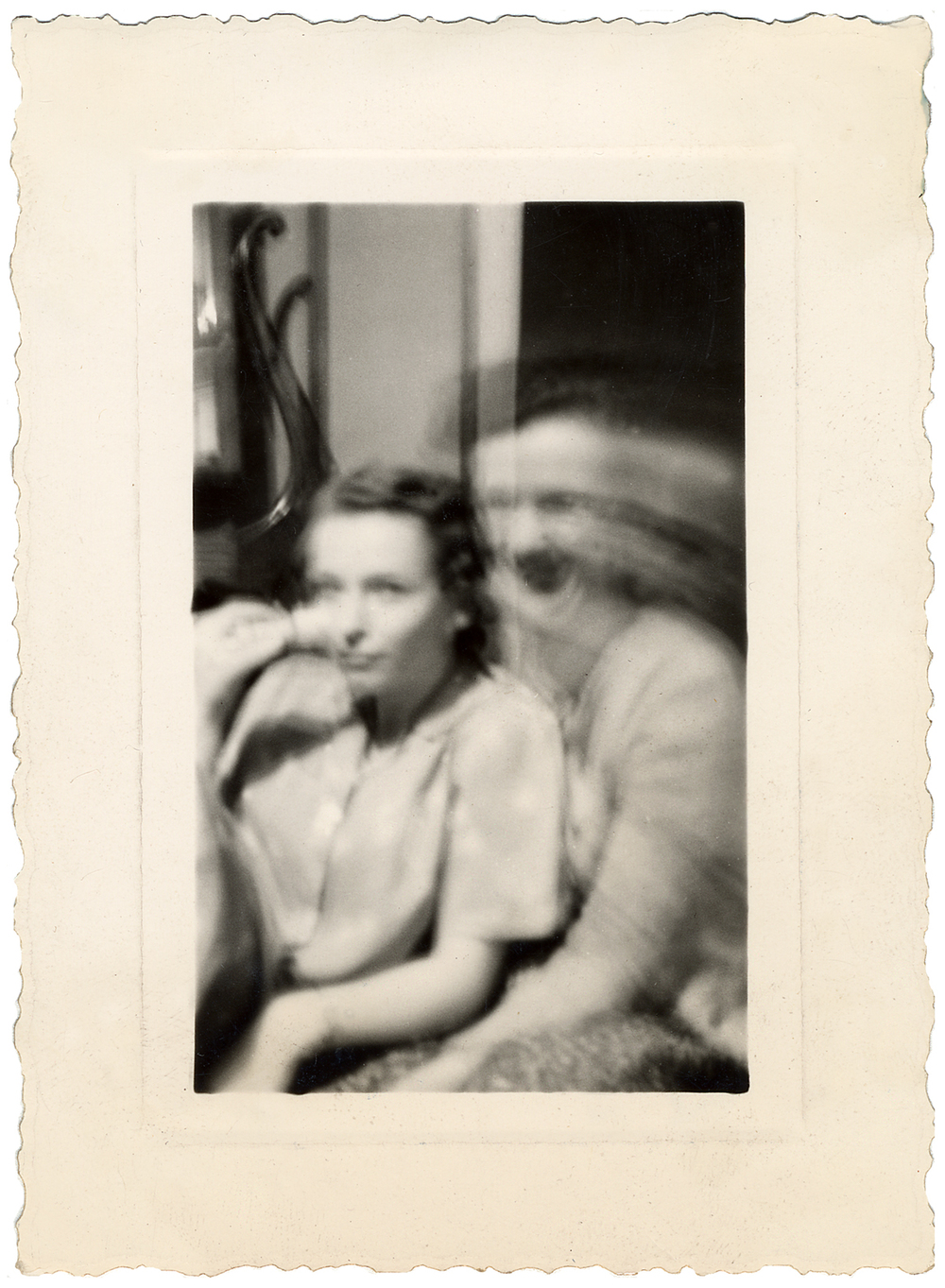 Accidental double-exposure, 1940s.