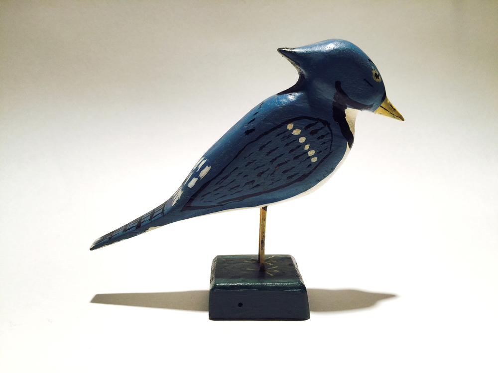 Miles Carpenter (1889 -1985)    Bluejay, c. 1970