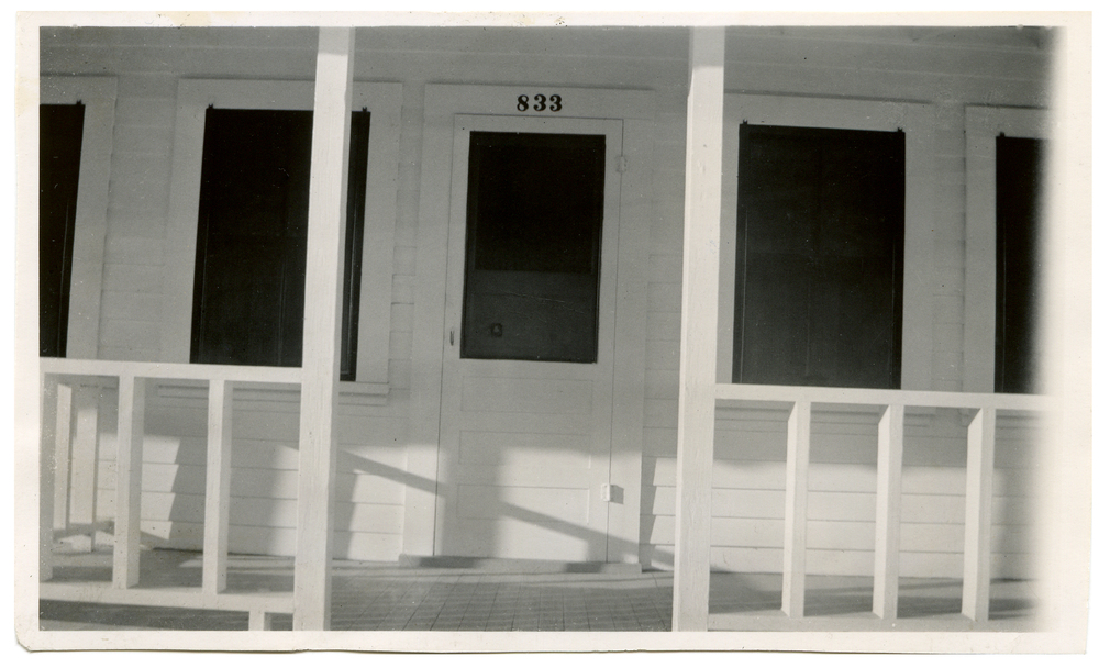 This white and black composition of a what appears to be a freshly painted front porch reminds me of the work of the great American photographer Walker Evans (1903 - 1975).