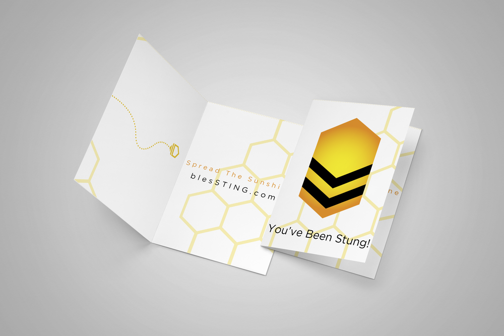 Print your blessting cards to leave for your sting ops mission targets- when you've been stung, pass it on! Spread the sunshine with acts of kindness & encouragement from the sting ops underground!