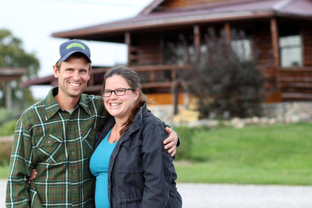 Levi and Kristin, the farmers at the homestead
