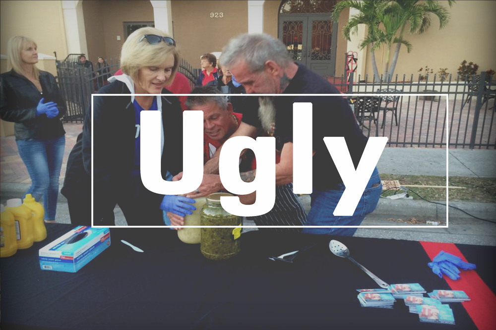 "We are an ""ugly"" church. By ugly we mean human, flawed, or imperfect. At the Vineyard, we say: ""No perfect people allowed."" We intentionally create a non-religious environment to invite people to experience the beautiful truth that God loves messed up people, just like us."
