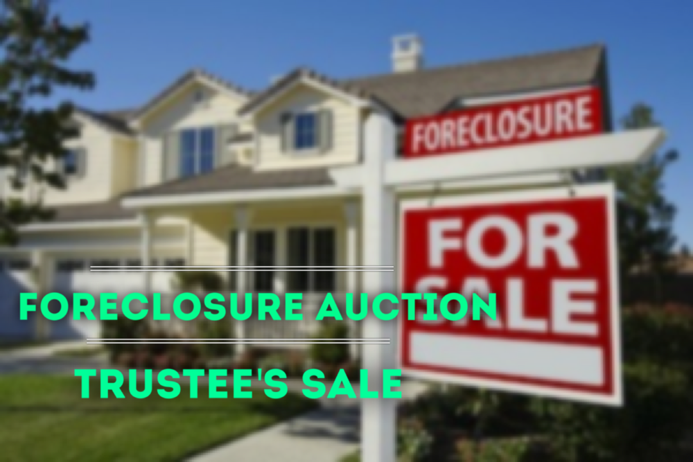 foreclosure auction-trustee sale-cash on cash return-return on investment-L.A. County Auction