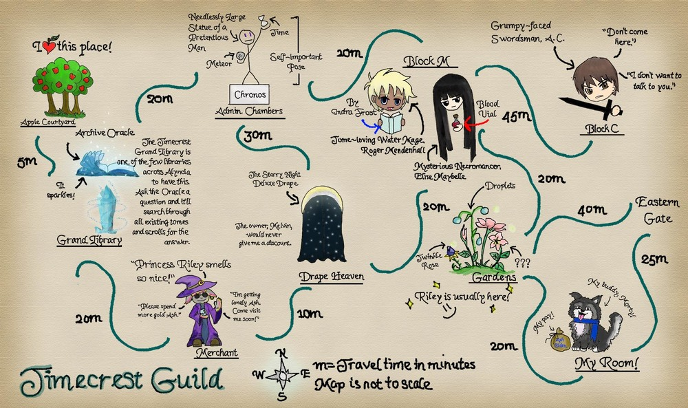 Map of Timecrest Guild