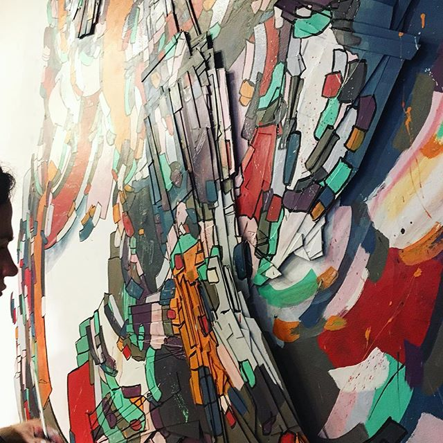This weekend is Somerville Open Studio!  Come by and visit! 86 Joy St., studio 21 Sat & Sun, 12-6 #sos2017 . . . #drawing #draw #paint #painting #wip #muralart #mural #installationart #installation #mixedmedia #pen #ink #paperart #3dart #bosarts #somerville #studio #studiolife