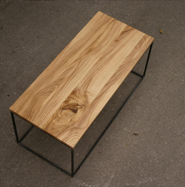 Straight Edge Ash Top with Minimalism Base