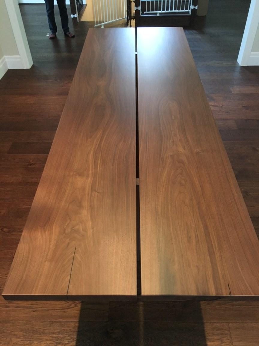 Custom Walnut Two Plank Table