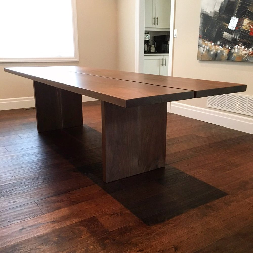 Custom Walnut Two Plank Table