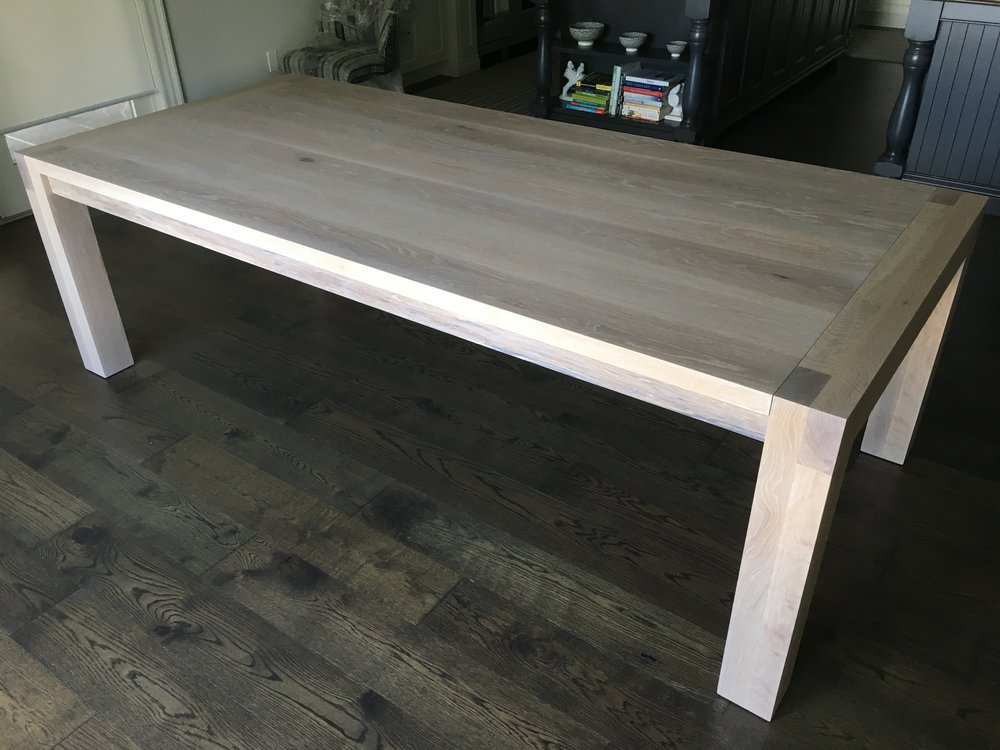 Custom White Oak Table