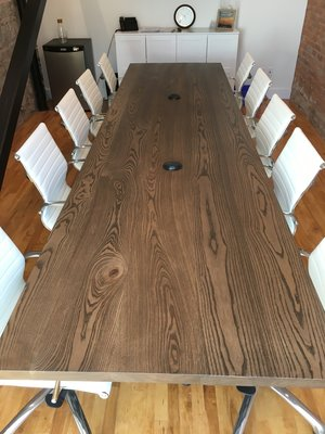 Ash Boardroom Table with Stain