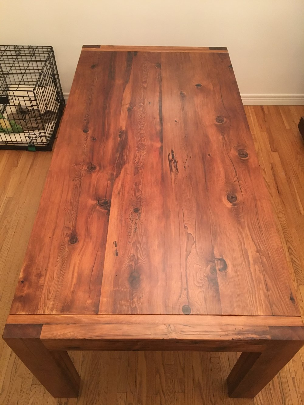 Extending Reclaimed Wood Dining Table
