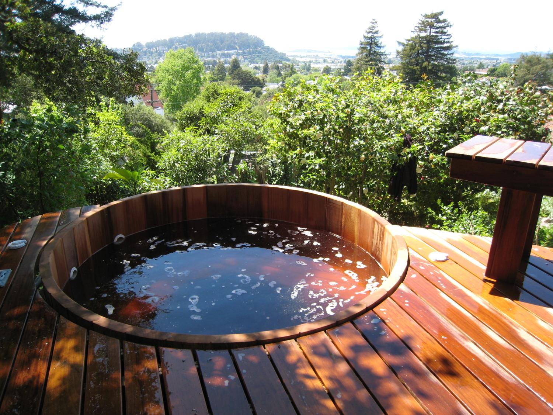 hot tub gardens — Zenscape