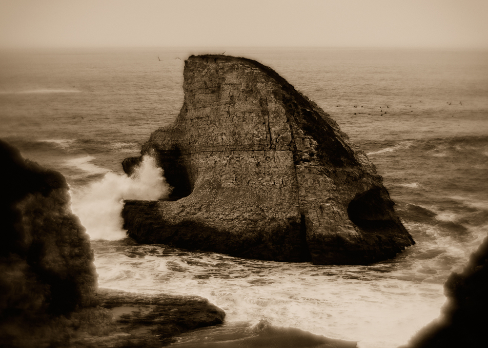 Sea Stack near Davenport, CA