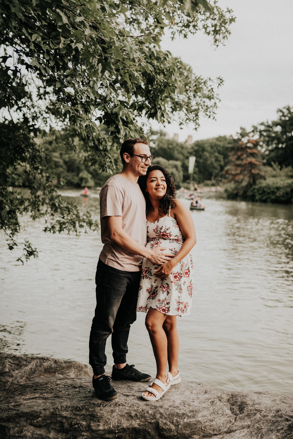 Central Park the lake Maternity Photos