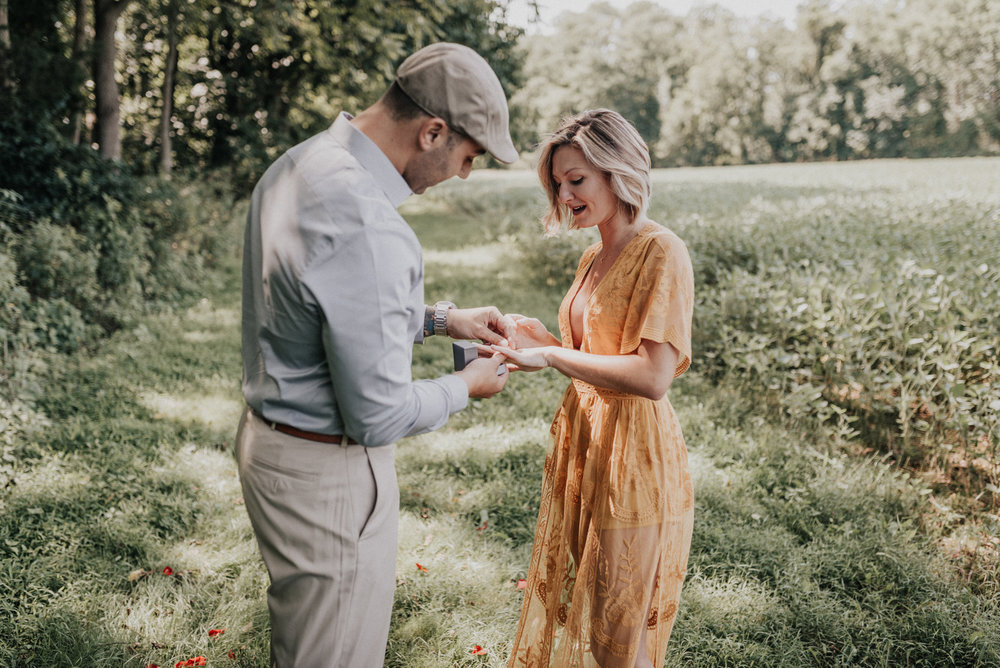 Clayton Park Cream Ridge New Jersey Engagement Photos