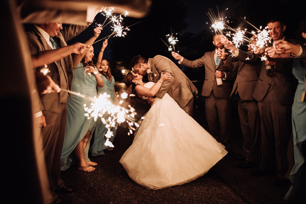 Indian Springs Country Club Wedding Marlton New Jersey sparkler exit