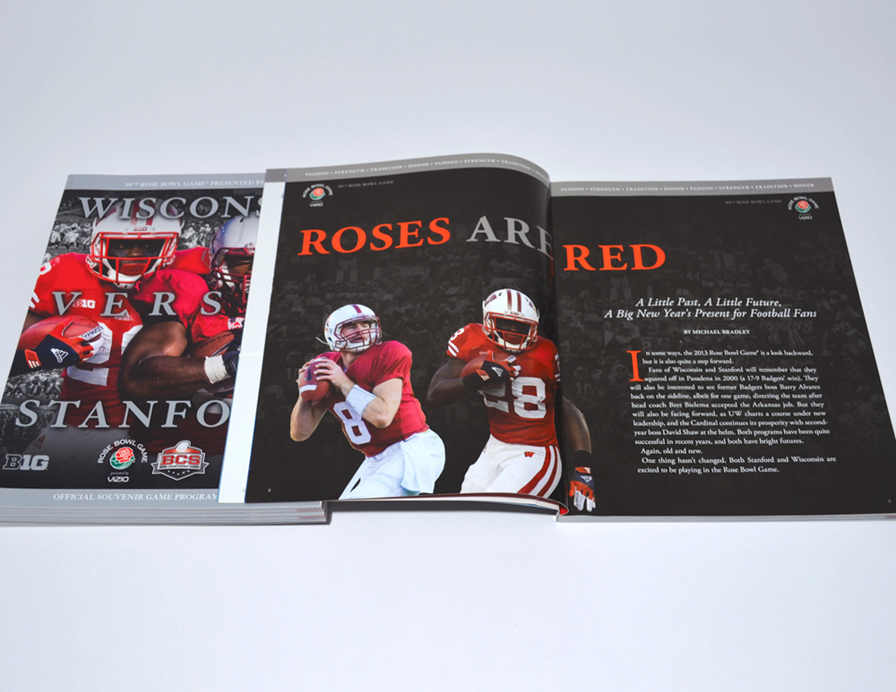 Rose Bowl Game Program Design