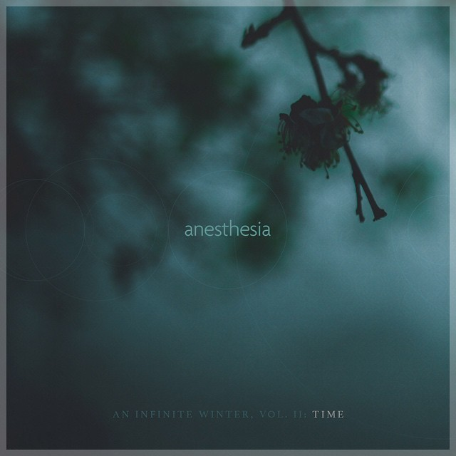 "Artwork for ""An Infinite Winter, Vol.II: Time"". Follow us @AnesthesiaCO on Twitter and @aninfinitewinter on Instagram.  Design by @johnsmillerphotography and photography by @lizosban."