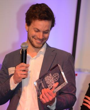 Benjamin Riederwint JCI Jonge Ondernemer van het jaar 2015
