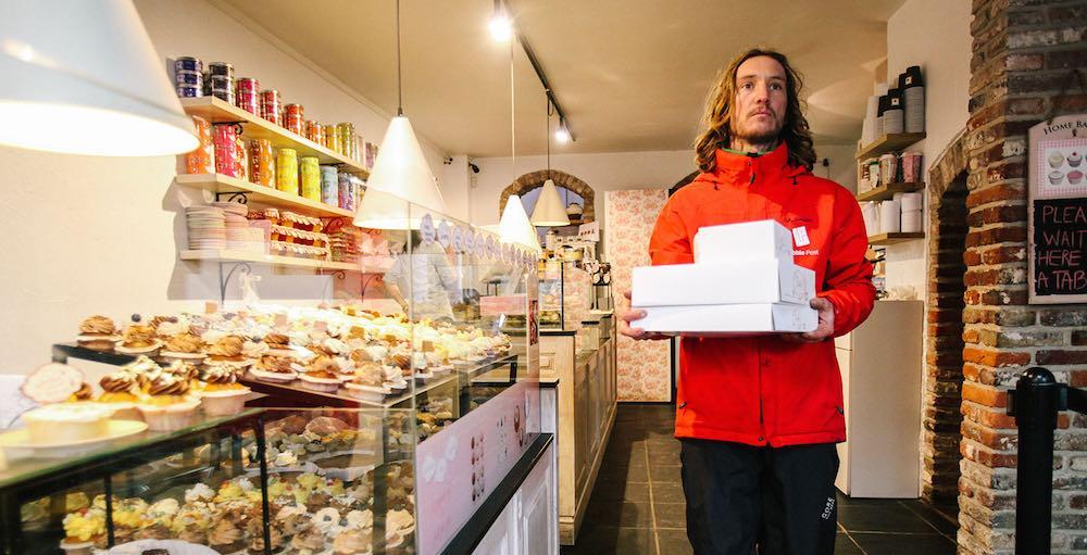 De perfecte oplossing om onze taarten op een ecologische en betaalbare manier te laten leveren.