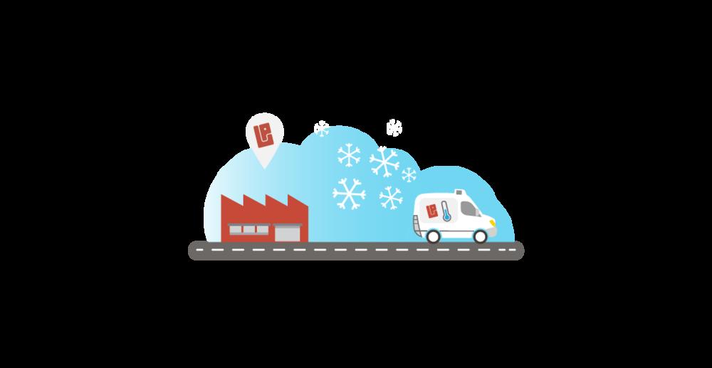 - Gekoeld, bevroren en droog transportDe depots van Bubble Post zijn volledig voorzien van koelcellenen gekoelde transportmogelijkheden en garanderen de strenge bewaking van de koude keten.