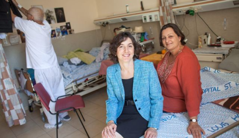 Conservative rabbis and pastoral care providers Miriam Berkowitz, left, and Valerie Stessin. Photo by Emil Salman