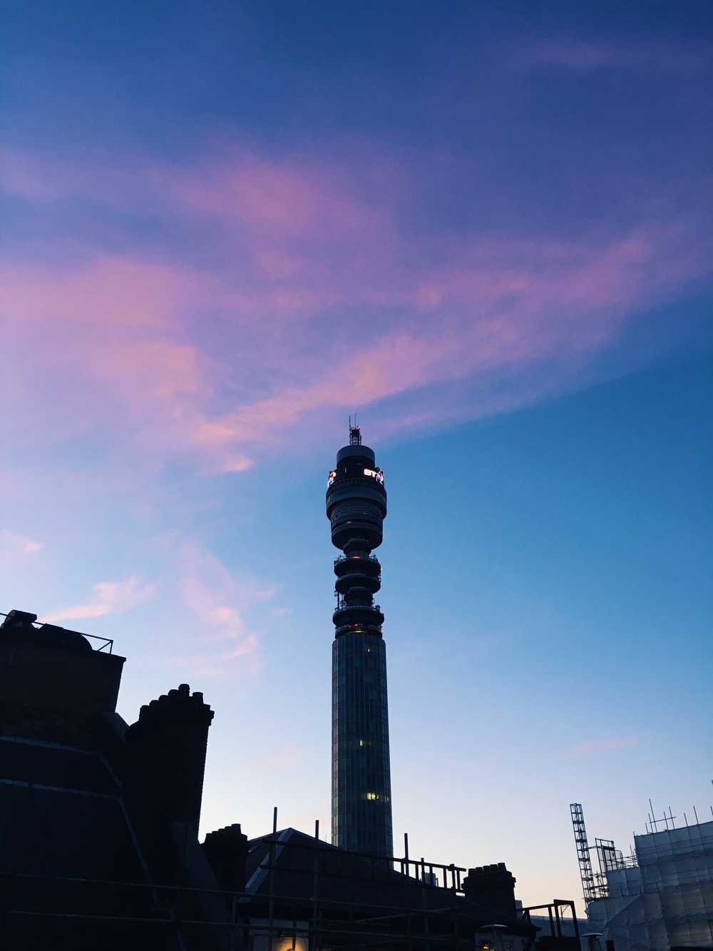 Overlooking the BT Tower.