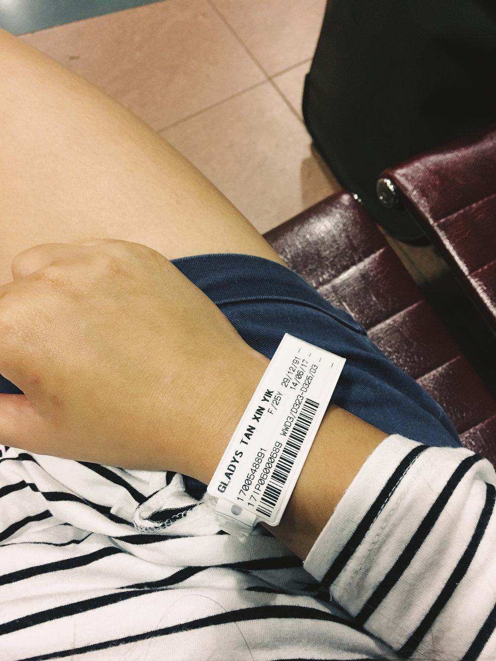 "my hospital tag. and in the words of Sung, ""OMG babe! You have a permanent pass to Sunway Lagoon now!"""