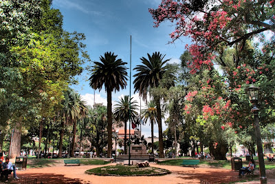 One of the prettiest parks I've seen, in the center of Salta