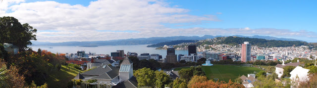 ...or at the Botanical Garden with views over Wellington!