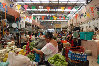 Mercado in Merida, the fruits & veggies section.