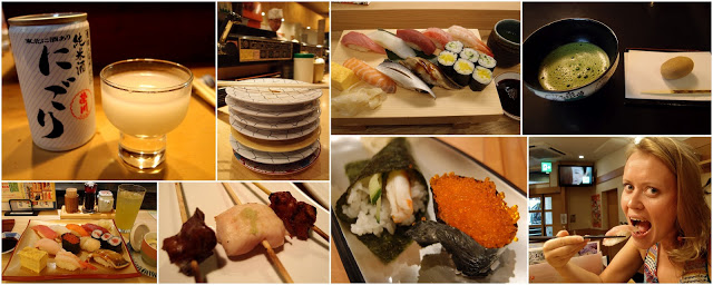 Eating out in Japan... Some of my favourite meals! And sushi at least once a day :)