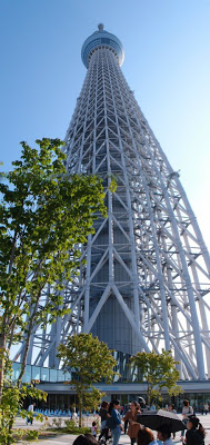 The Skytree panorama - the tower is too large to fit in one normal frame this closeup!