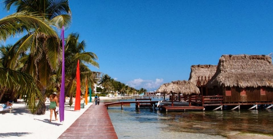 Beach promenade at Ambergris Caye, Belize