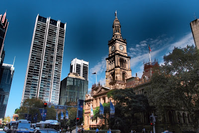 Cathedral on George Street - the main avenue of Sydney