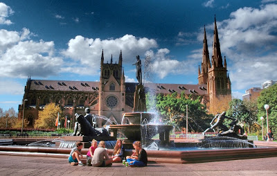 Hyde Park and Saint Mary's Cathedral