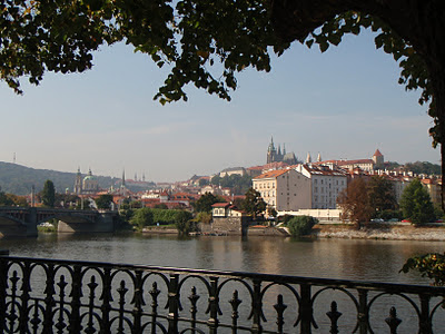 River Vltava by day - the Castle in the middle