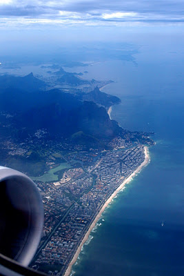 Flying out of Rio - a wonderful view of the massive city
